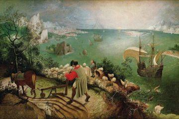 Pieter Brueghel l'Ancien, La Chute d'Icare, 1583, Musées royaux des beaux-arts de Belgique, Bruxelle